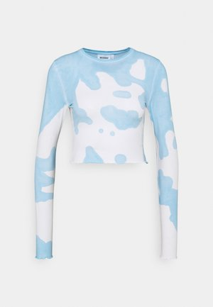 SENA TIE DYE LONG SLEEVE - Bluzka z długim rękawem - blue with white