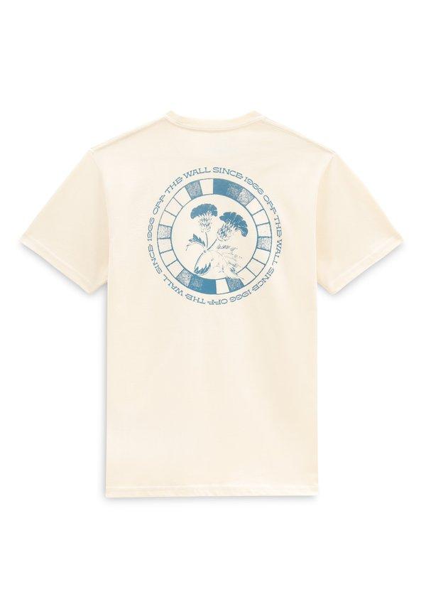 Vans T-shirt z nadrukiem - seedpearl/beżowy Odzież Męska VSLW