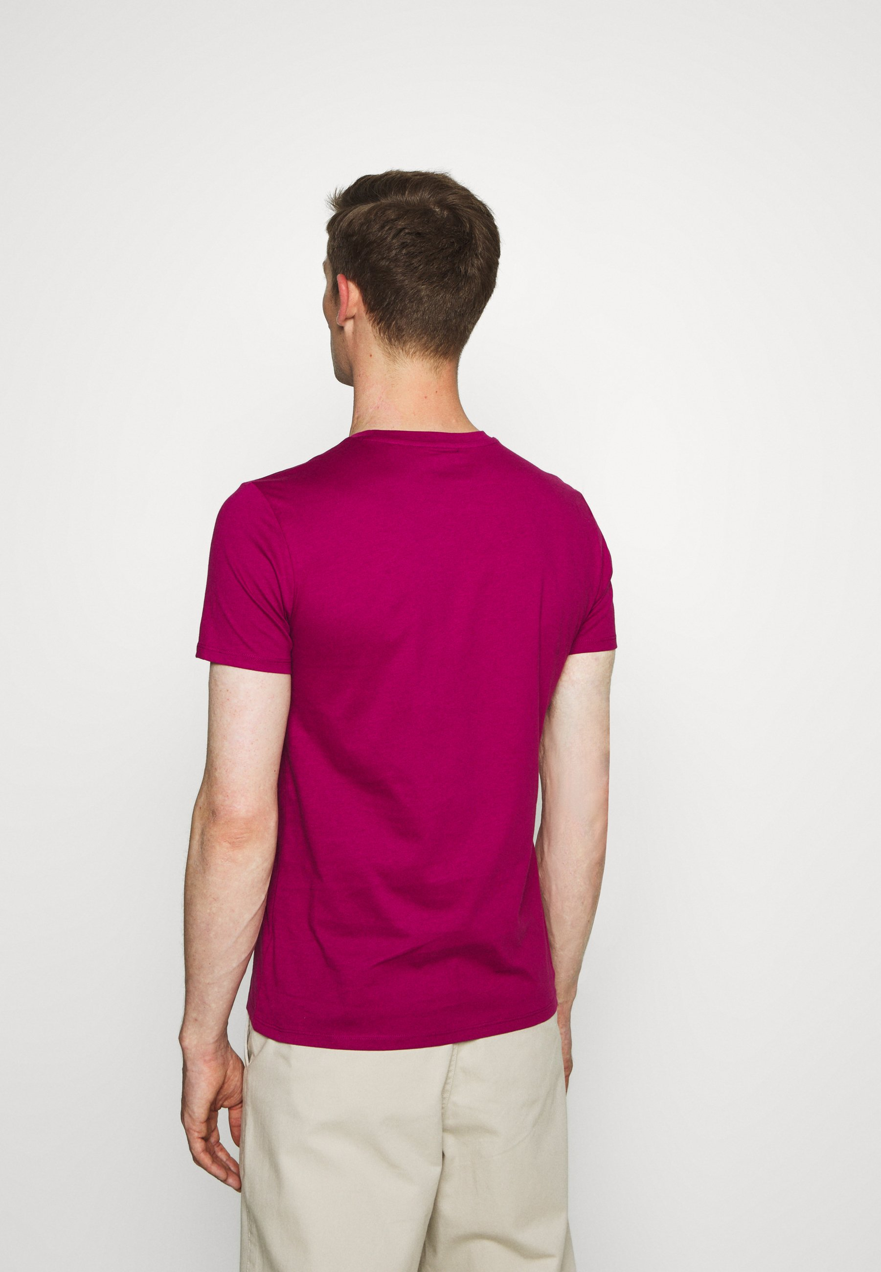 Marc O'Polo SHORT SLEEVE CREW NECK - Print T-shirt - raspberry radiance PTPO0