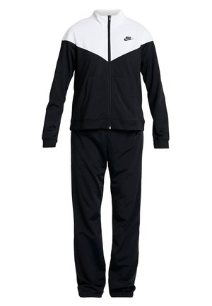 TRACK SUIT SET - Huvtröja med dragkedja - black/white