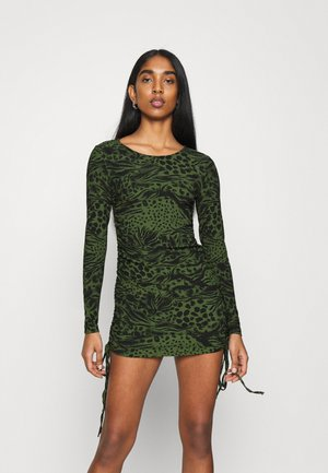 ANIMAL RUCH MINI - Jersey dress - khaki