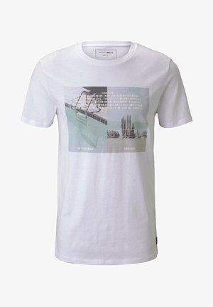 MIT FOTOPRINT - T-shirt print - white