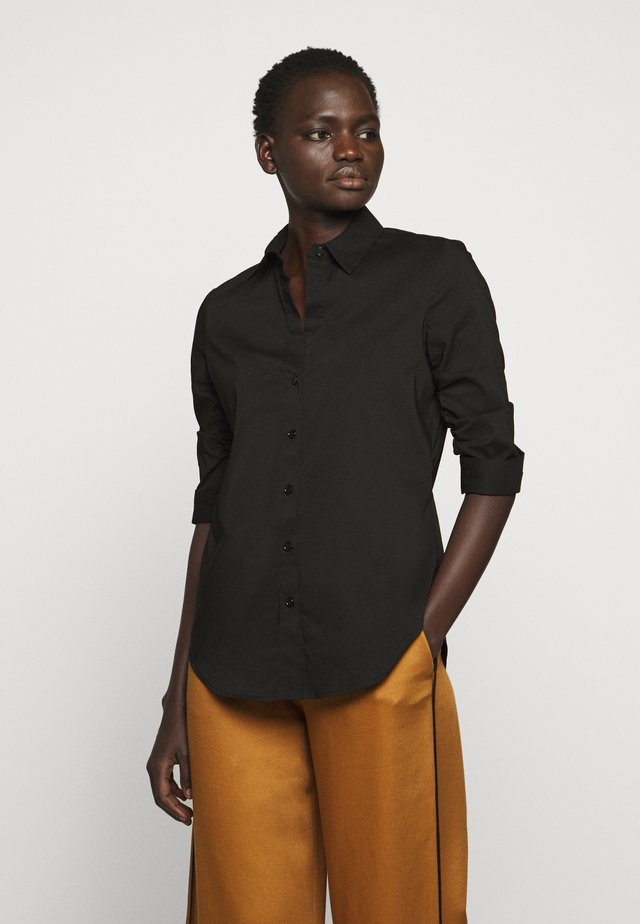 BENITA ESSENTIAL BLOUSE - Button-down blouse - black