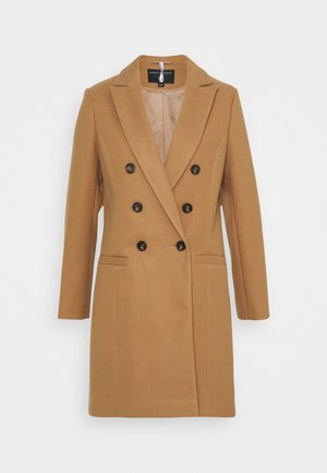 DOUBLE BREASTED COAT - Abrigo - camel