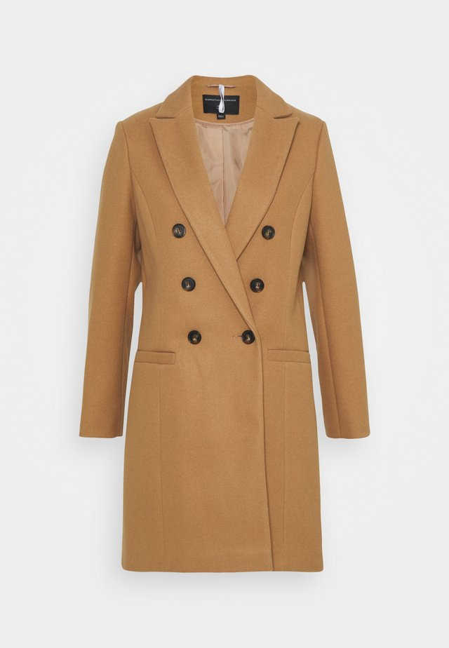 DOUBLE BREASTED COAT - Manteau classique - camel