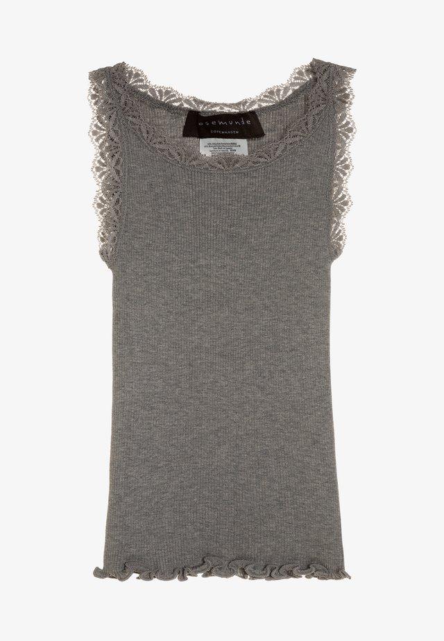 Top - light grey melange