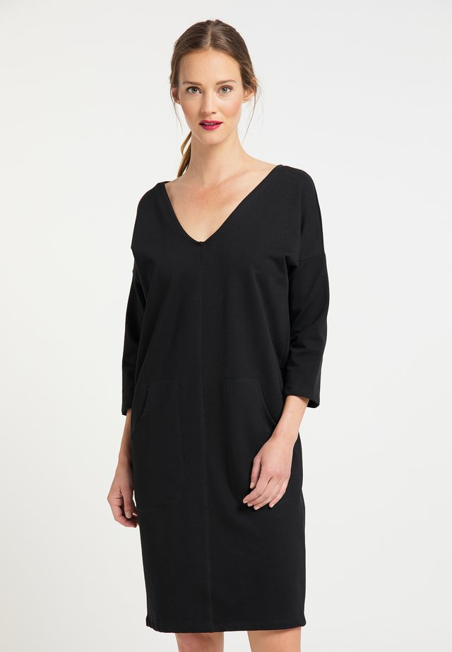 Jersey dress - schwarz