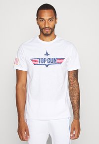 Only & Sons - ONSTOPGUN TEE - T-shirts print - bright white - 0