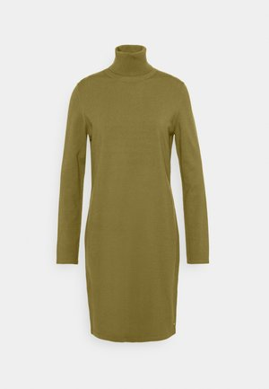 DRESS TURTLE NECK - Strikkjoler - olive green