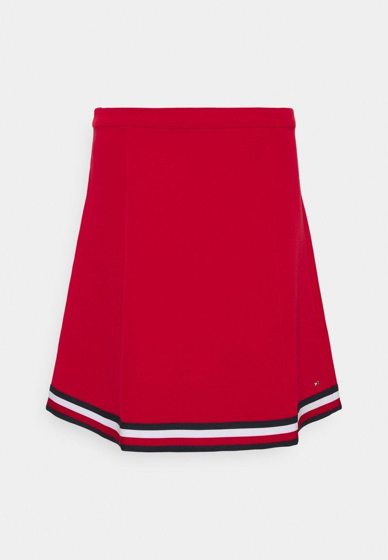 Tommy Hilfiger - ANGELA GLOBAL SHORT SKIRT - A-line skirt - primary red