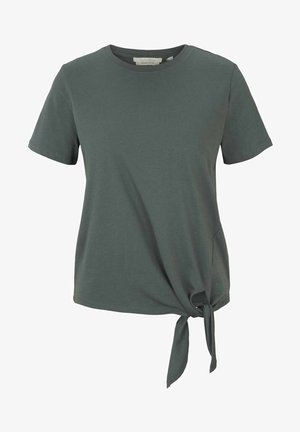 Print T-shirt - dusty pine green