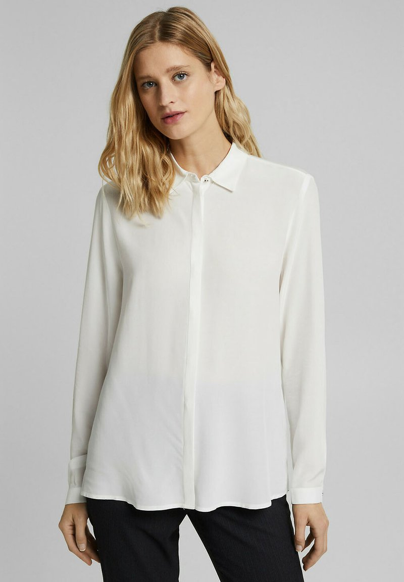 Esprit Collection - TOUCH ECO - Button-down blouse - off white