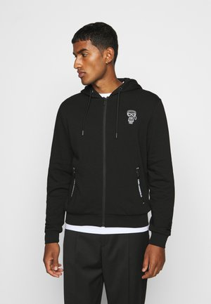 HOODY - veste en sweat zippée - black