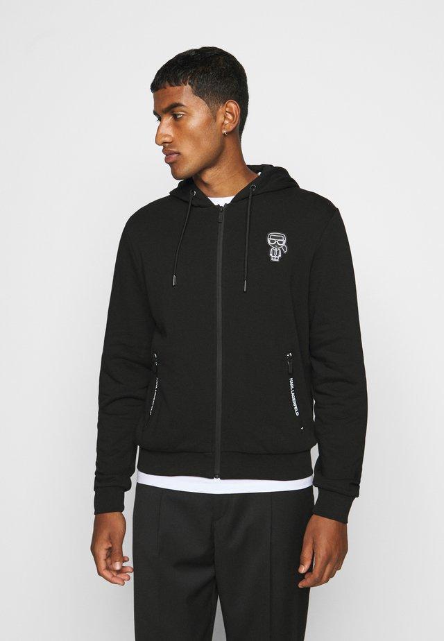 HOODY - veste en sweat zippée - black