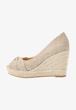 SWEETPEA - Peeptoe heels - natural