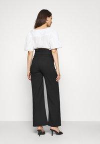 LOVE2WAIT - PANTS CRINCLE - Trousers - black - 2