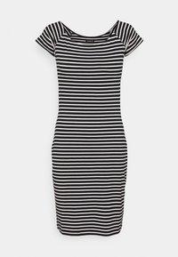 Even&Odd - Vestido de tubo - black/white - 4