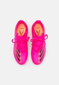 adidas Performance - X GHOSTED.1 FG UNISEX - Tekonurmikengät - shock pink/core black/screaming orange - 3