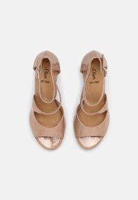s.Oliver - Platform sandals - nude - 4