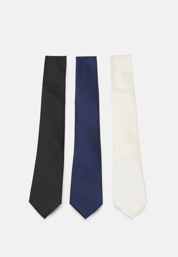 3 PACK - Cravatta - black/dark blue/beige