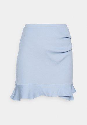 LUCY FRILL SKIRT - Spódnica mini - placid sky