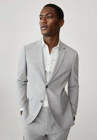 Mango - Blazer jacket - mittelgrau - 0