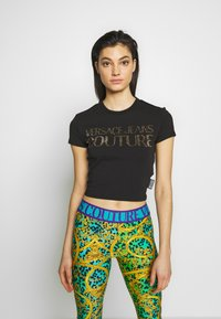Versace Jeans Couture - LADY - T-shirt imprimé - black/gold - 2