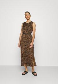 Banana Republic - UTILITY MAXI SHIRTDRESS - Day dress - black - 0