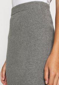 esmé studios - SKYLAR SKIRT - Pencil skirt - grey melange - 5