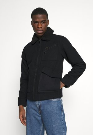 WOOL JACKET - Light jacket - black