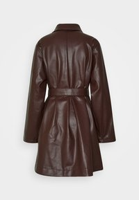 Monki - RORI JACKET - Faux leather jacket - brown - 1