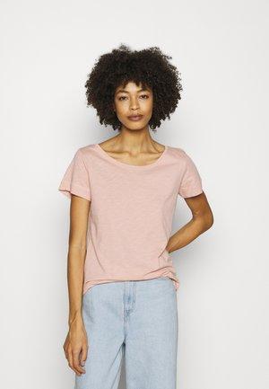 Jednoduché triko - misty rose