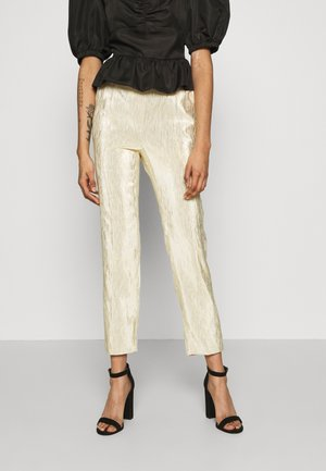 SHINY SUIT PANTS - Bukse - gold