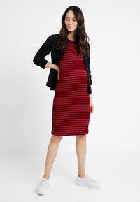 Supermom - DRESS STRIPE - Jersey dress - tango red - 1