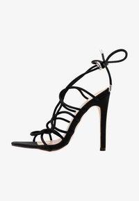 Public Desire - SAVY - Sandály na vysokém podpatku - black - 1