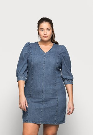 CARLURSA LIFE TUNIC DRESS - Denimové šaty - medium blue denim