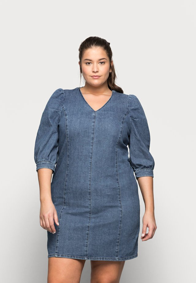 CARLURSA LIFE TUNIC DRESS - Vestito di jeans - medium blue denim