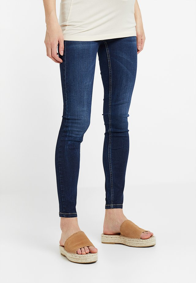 UNTERBAUCHBUND - Jeansy Skinny Fit - dark-blue denim