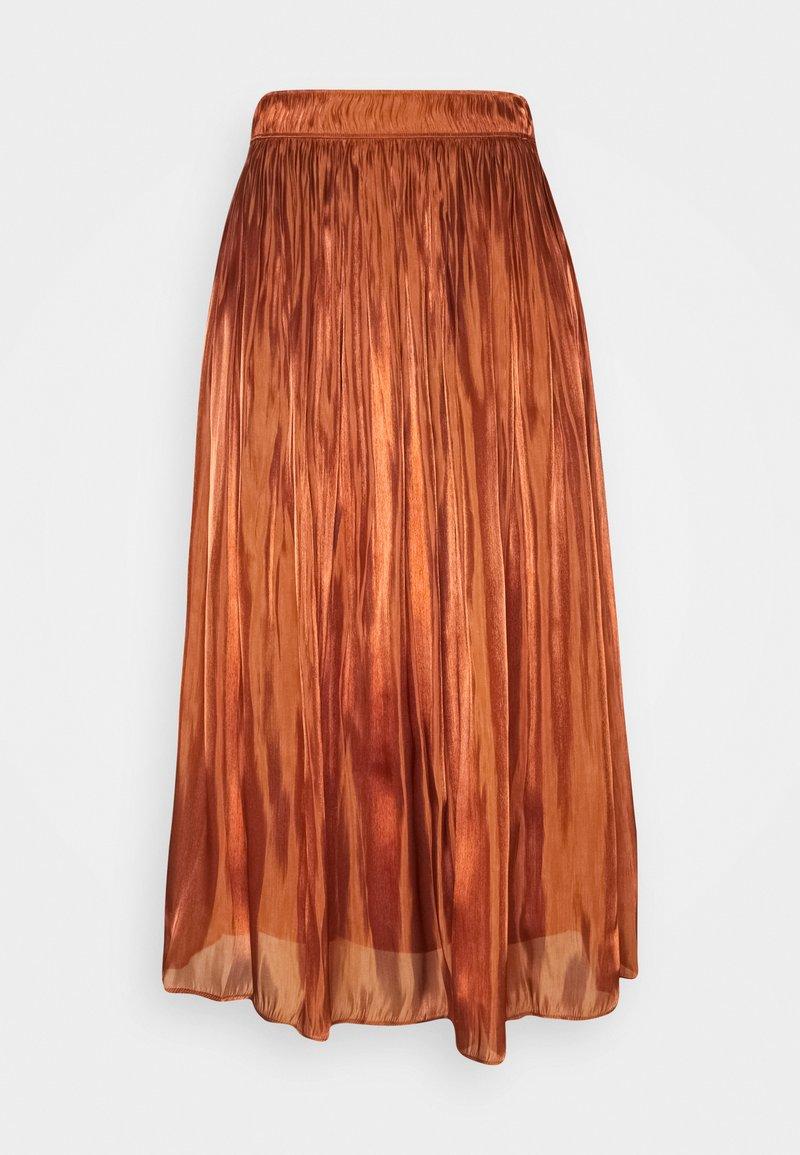 comma - A-line skirt - cognac