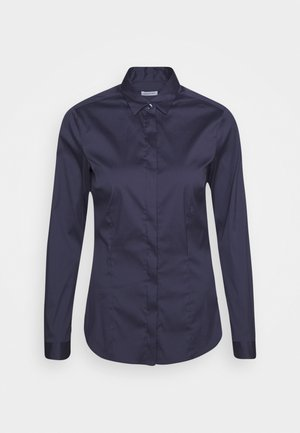 LANGARM - Button-down blouse - dunkelblau