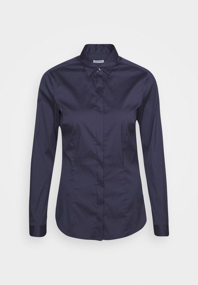 LANGARM - Button-down blouse - dunkelblau