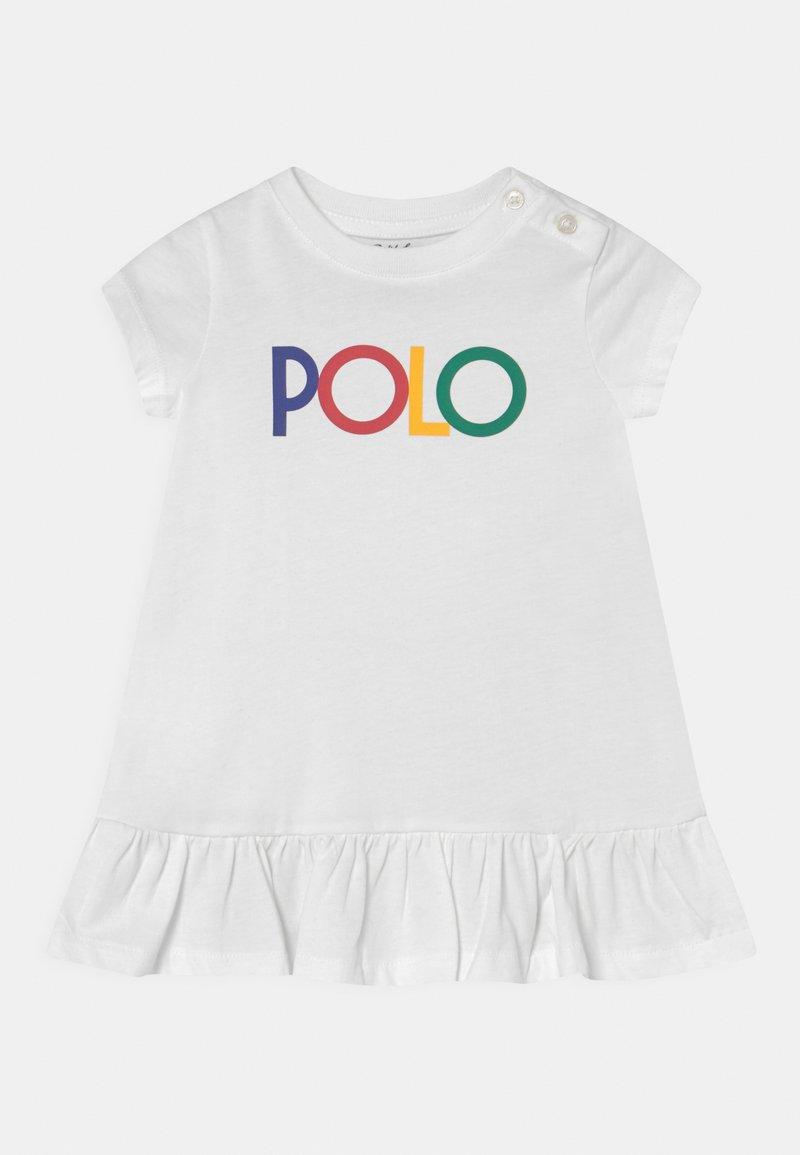Polo Ralph Lauren - FLOUNCE DAY DRESS SET - Jersey dress - white