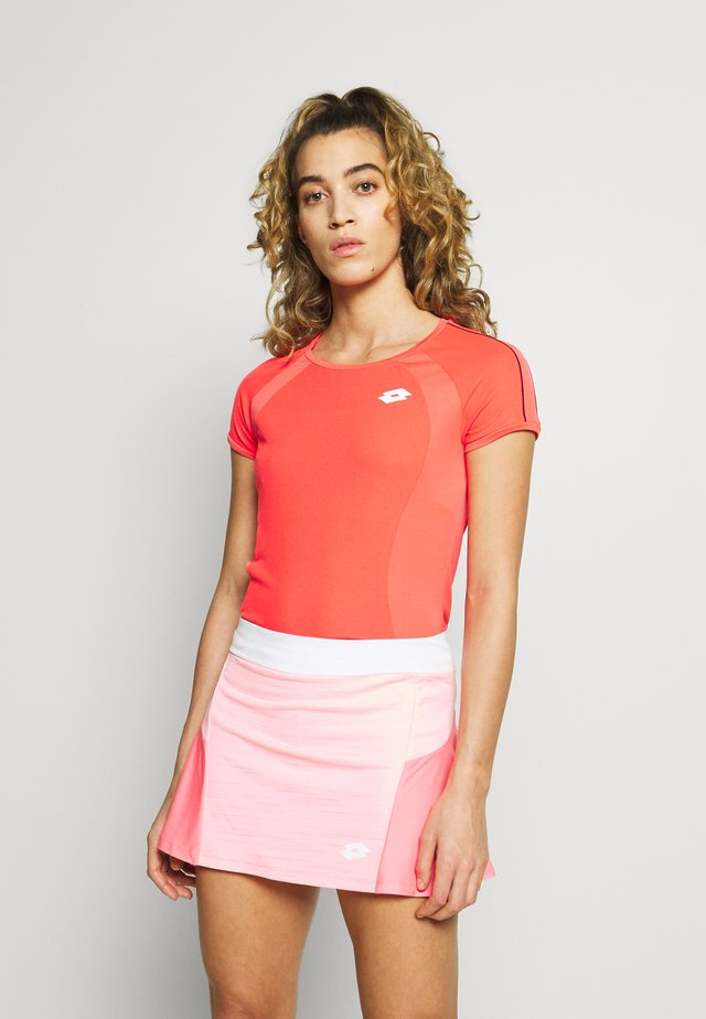 TENNIS TEAMS TEE - T-shirts print - red fluo