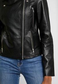 ONLY - ONLLENA BIKER - Veste en cuir - black - 5