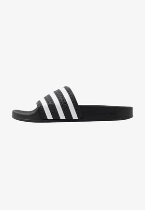ADILETTE - Pantofle - core black/footwear white