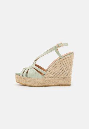 SOFIA - Platform sandals - aqua