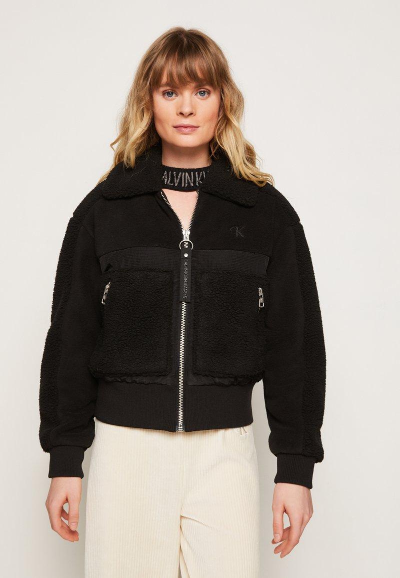 Calvin Klein Jeans - POLAR SHORT JACKET - Winter jacket - black