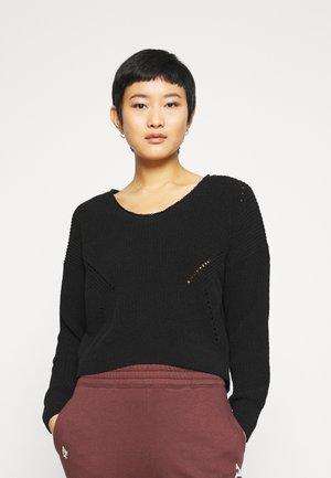 STITCHY - Sweter - black