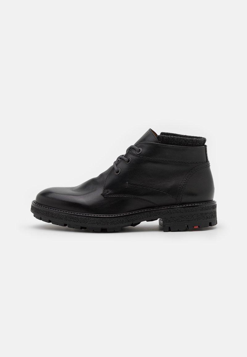 Lloyd - ONDO - Lace-up ankle boots - schwarz/darkgrey