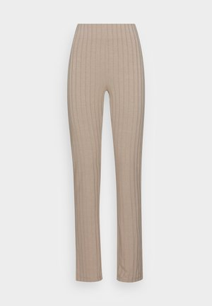 IDA SLIT TROUSERS - Trousers - rosted cashew